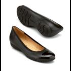 Gabor fekete balerina cipő lakk orral