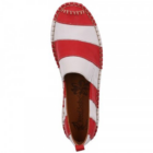 Josef Seibel Fiona piros-fehér csíkos bebújós női cipő