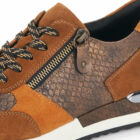 Remonte barna-mustársárga sneaker