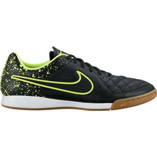 Nike Tiempo Genio Leather IC Black Volt utcai edzőcipő