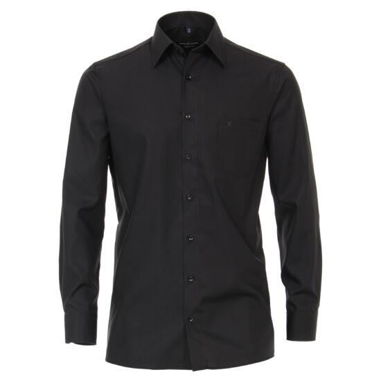 Casa Moda fekete hosszú ujjú ing fekete gombokkal