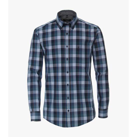 Casa Moda kék kockás hosszú ujjú ing