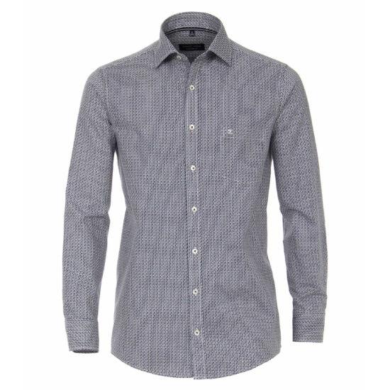Casa Moda kék mintás hosszú ujjú ing