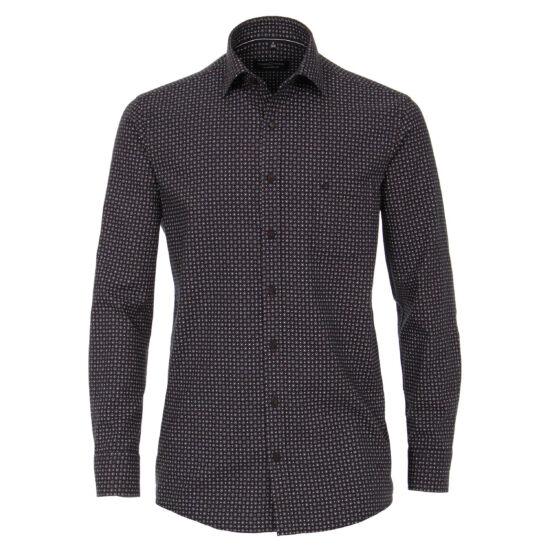 Casa Moda fekete alapon mintás hosszú ujjú ing