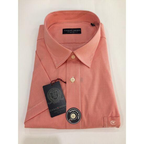 Casa Moda apró kockás piros rövid ujjú ing