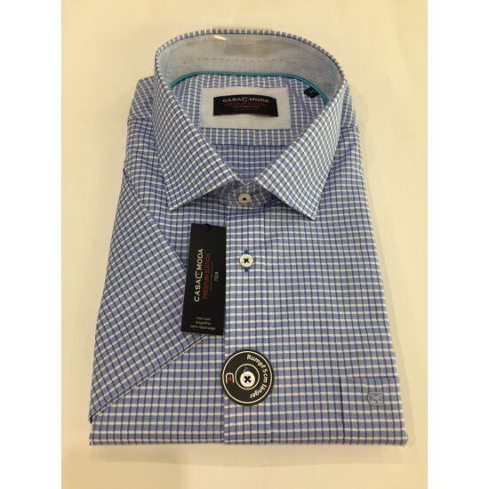 Casa Moda kék kockás rövid ujjú ing