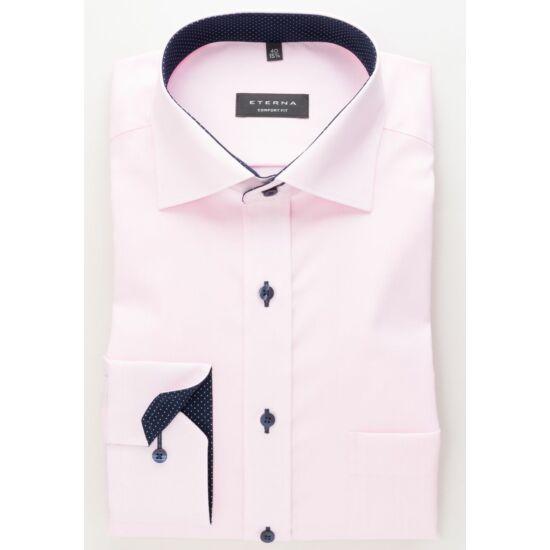 Eterna hosszú ujjú elegáns halvány rózsaszín ing