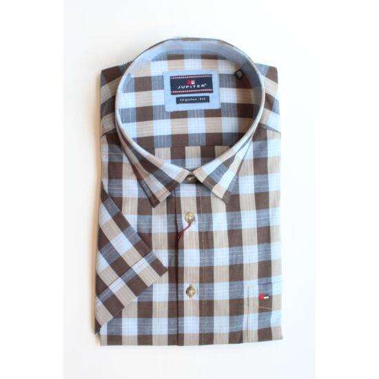 Jupiter kék - szürke kockás ing