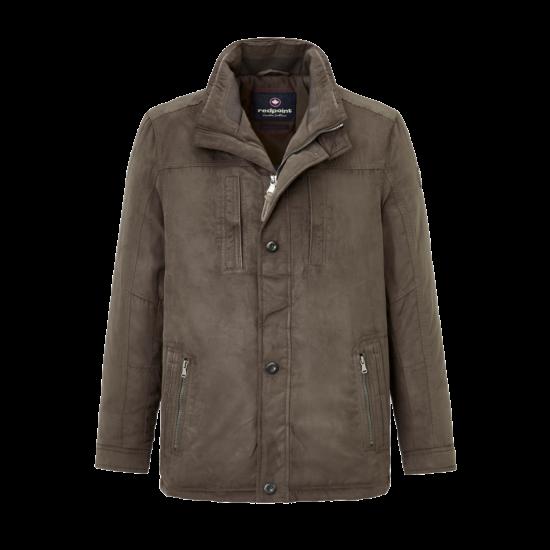 Redpoint Thom velúrhatású barna kabát