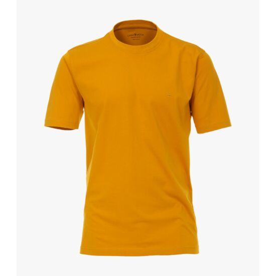 Casa Moda okkersárga kerek nyakú póló