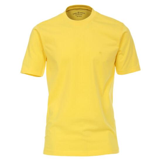 Casa Moda sárga kerek nyakú póló