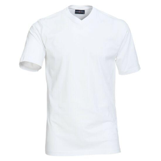 Casa Moda V nyakú fehér póló