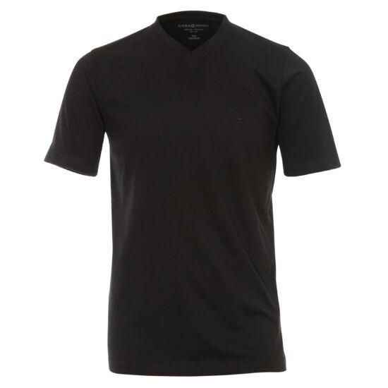 Casa Moda V nyakú fekete póló