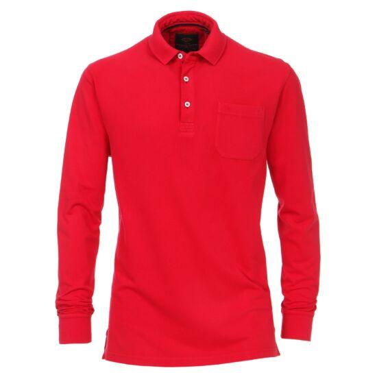 Casa Moda piros hosszú ujjú galléros póló