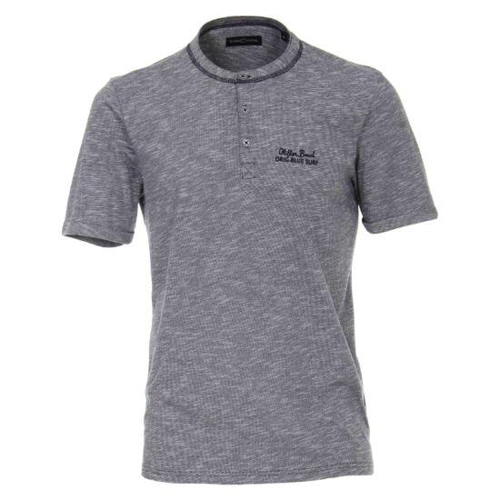 Casa Moda szürke gombos póló