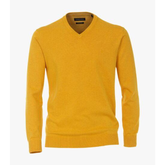 Casa Moda okkersárga V nyakú pulóver