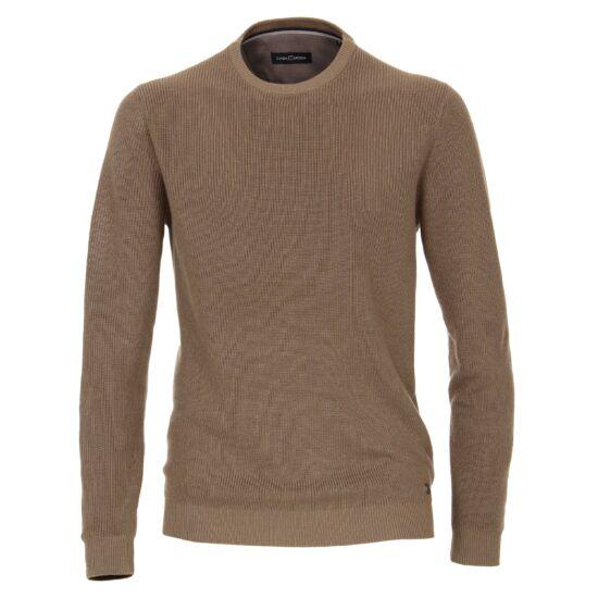 Casa Moda kerek nyakú világosbarna pulóver