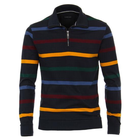 Casa Moda csíkos vékony pulóver cipzárral