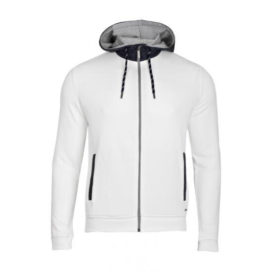 Bugatti kapucnis fehér pulóver
