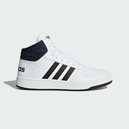 Adidas Hoops 2.0 Mid fehér magas szárú cipő