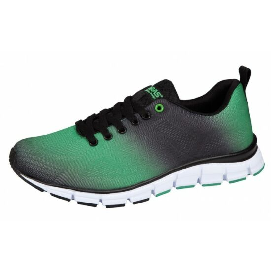 Boras zöld -fekete utcai cipő