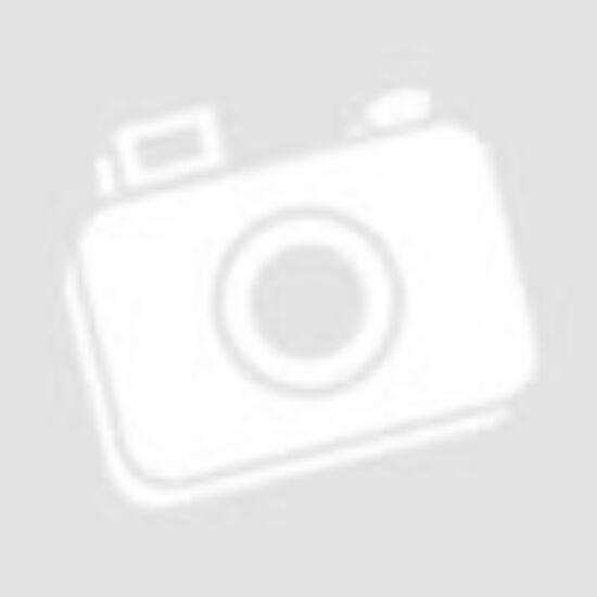 Boras sötétkék-piros vászon cipő