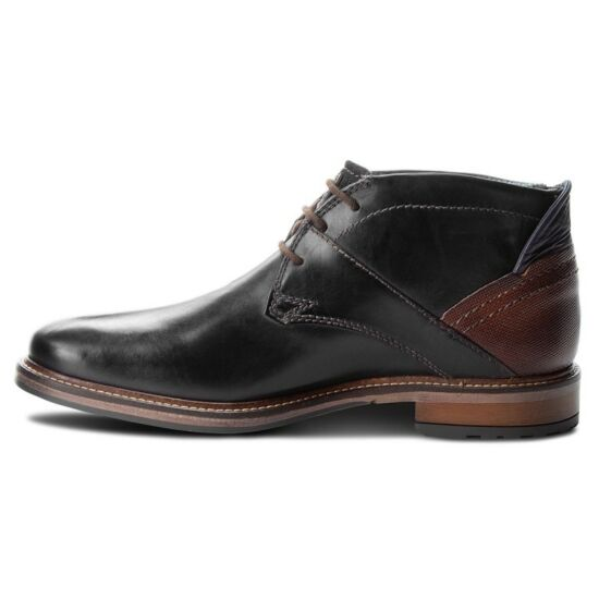 Bugatti elegáns sötétkék magasszárú cipő
