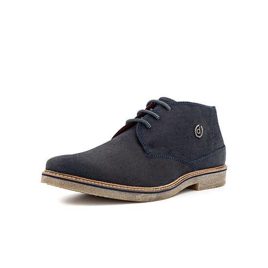 Bugatti sötétkék félszárú cipő