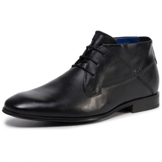 Bugatti fekete félszárú cipő
