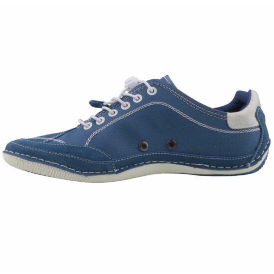 Bugatti kék vászoncipő gumis fűzővel