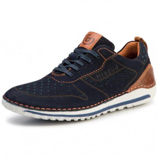 Bugatti kék bőr cipő