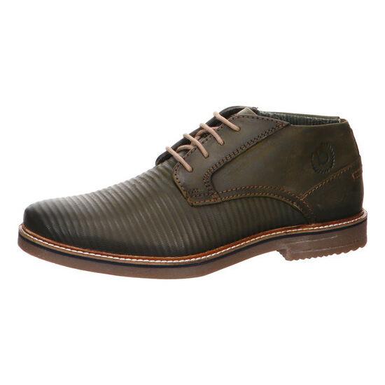 Bugatti sötétzöld félszárú cipő