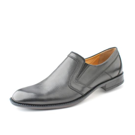 Fretz Men Tosco fekete bebújós alkalmi cipő