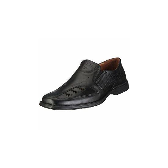 Josef Seibel fekete bebújós férfi cipő