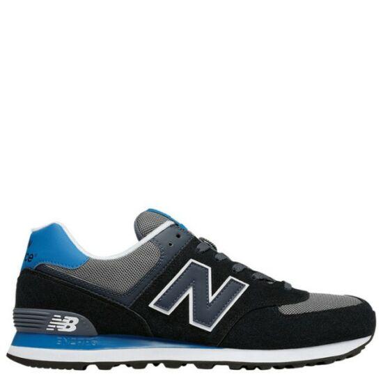 New Balance fekete-kék-szürke sportcipő