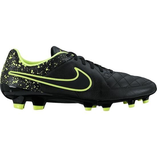 Nike Tiempo Genio Leather FG Mens fekete-zöld futballcipő