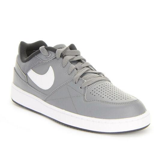 Nike Priority Low szürke bőr utcai cipő