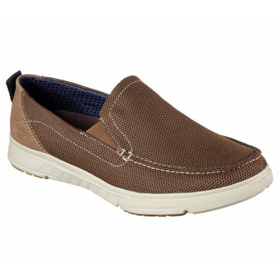 Skechers Moogen Sheldon bézs bebújós cipő