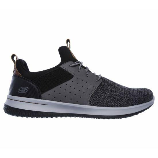 Skechers szürke-fekete férfi sportos cipő