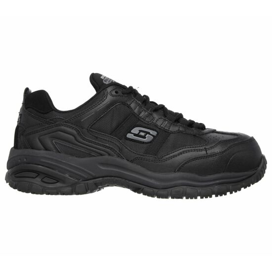 Skechers fekete férfi munkavédelmi cipő