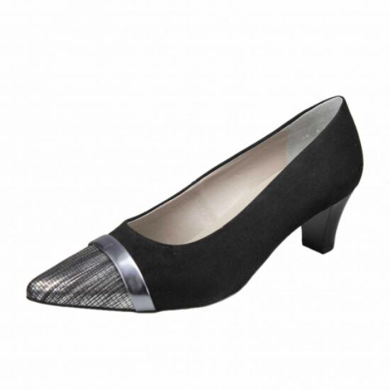 Ara fekete alkalmi cipő ezüst orral