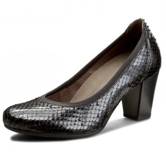 Gabor fekete pikkelyes női alkalmi cipő