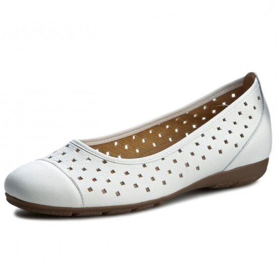 Gabor fehér lyukacsos balerina cipő