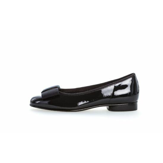 Gabor sötétkék lakk balerina cipő
