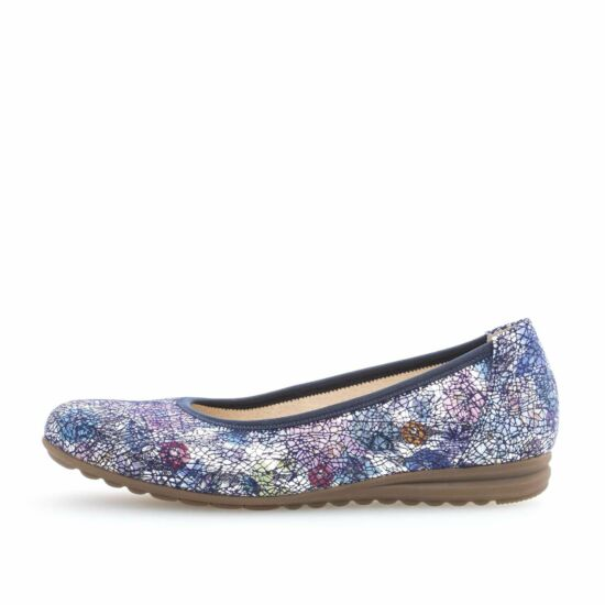 Gabor kék mintás balerina cipő