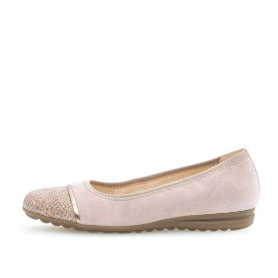Gabor púderrózsaszín balerina cipő