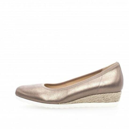 Gabor bronz telitalpú balerina cipő