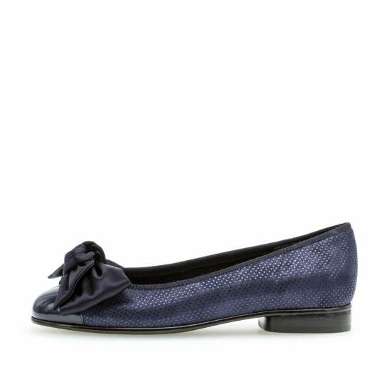 Gabor sötétkék balerina cipő masnival