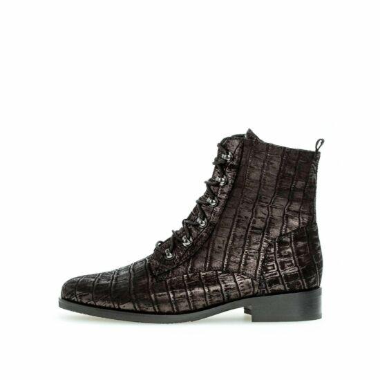Gabor fekete magasszárú cipő fényes felsőrésszel