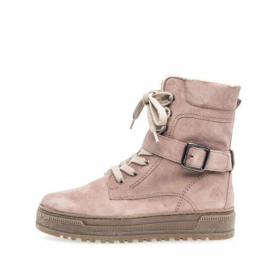 Gabor pink magasszárú női cipő vastag béléssel